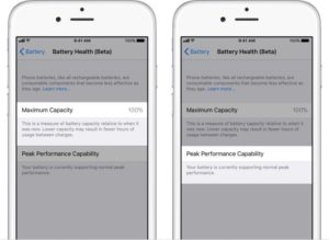 Iphone Battery Health issues